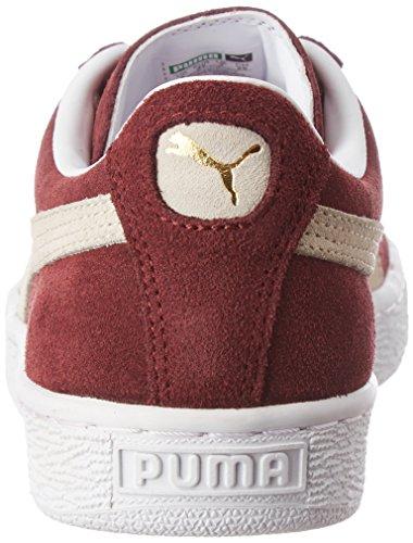 Scarpe Da Ginnastica Classiche Scamosciate Da Donna Puma Bianco-rosso