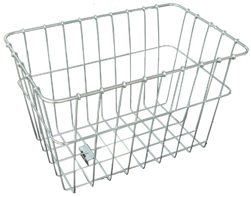 Silver Cruiser Bike - Wald 585 Rear Bicycle Basket (14.5 x 9.5 x 9)