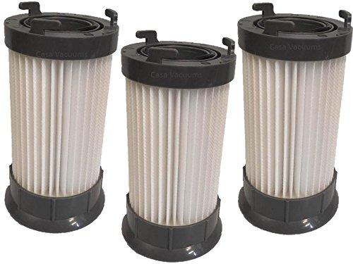 3 Eureka DCF-4 DCF-18 Washable & Reusable Long-Life Vacuum Filter; Replaces Eureka GE DCF1 DCF4 DCF18 Part # 62132 63073 61770 3690 18505 28608-1 28608B-1, by Casa Vacuums -