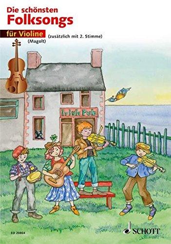 Die schönsten Folksongs: 1-2 Violinen. Spielpartitur.