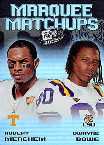 Dwayne Bowe & Robert Meachem football card (LSU Tigers, Tennessee Volunteers) 2007 Press Pass Marquee Matchups Rookie Refractor #MM7