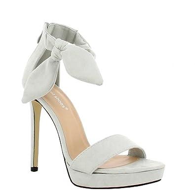 Talon Gemma Shoes 41 À Effet Daim Gris Sandales Ideal cALq4j5R3