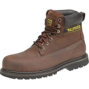 Caterpillar New Mens Holton SB Safety Boot Gents Lace-Up Footwear Leather Shoes 14