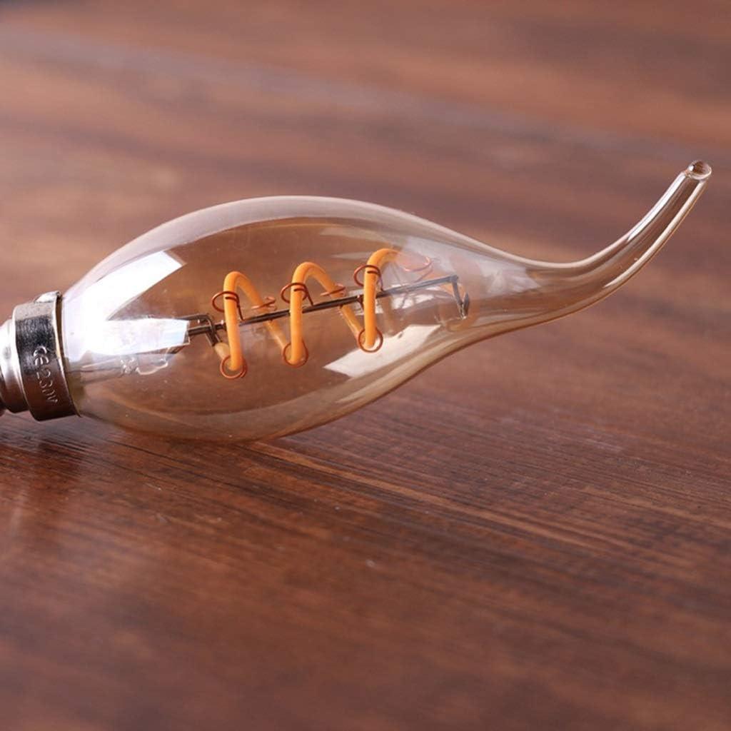 Lampadina Lampada Sorgente di Luce Holder Retro C35T Candela 3W Dimming Morbida filamento E12 // E14 della Lampada Color : E12-110V lampadario Home Bar caff/è Ristorante .n GYC .m 10 Pack