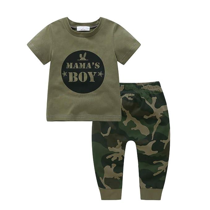f48161329 BOBORA Ropa Bebé, Camiseta de Manga Corta con Pantalones de Camuflaje para  Bebés Niñas Niños: Amazon.es: Ropa y accesorios