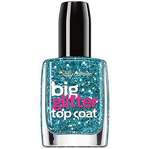 - Sally Hansen Treatment Big Glitter Top Coat Nail Color, Blue Moonlight, 0.4 Fluid Ounce