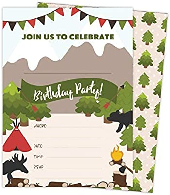 amazon co jp lumberjack style 2 happy birthday invitations invite
