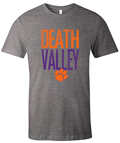 NCAA Clemson Tigers Adult NCAA Dotted Phrase Short sleeve Triblend T-Shirt,Large,Grey