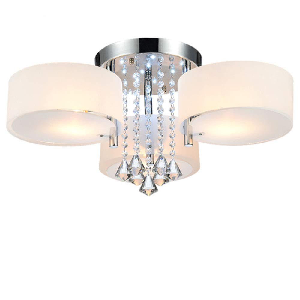 7 Flammig E27 LED Kristall Deckenleuchte Wohnzimmer