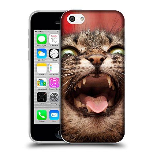 Just Phone Cases Coque de Protection TPU Silicone Case pour // V00004221 Fou attaque chaton colère // Apple iPhone 5C