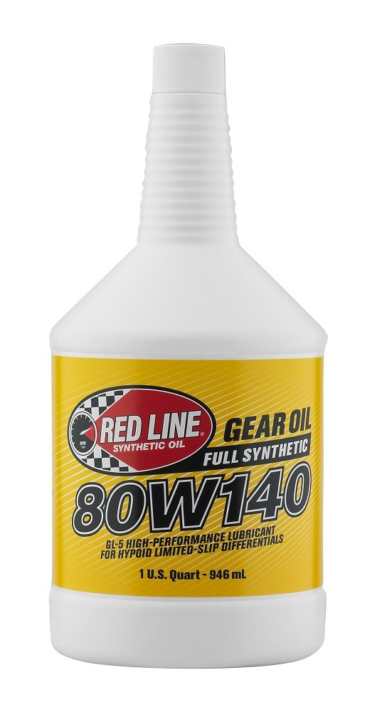 Red Line 58104-12PK 80W140 Synthetic Gear Oil -  1 Quart, (Pack of 12) by Red Line Oil