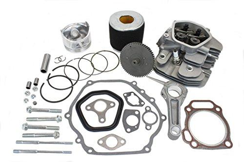Everest Cylinder Head Rebuild Kit Rockers Valves Camshaft Piston Compatible with Honda GX340
