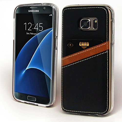 Galaxy S7 Case, Cellto [Cano Wallet] [Thin] Scratch Resistant TPU Gel Rubber Soft Skin Silicone Protective Case Cover for Samsung Galaxy S7 - (Black) Sales