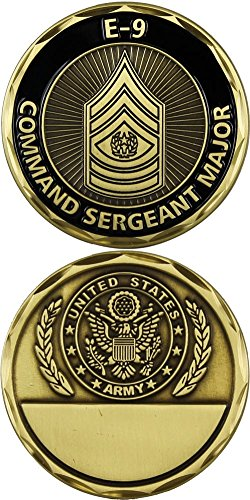 U.S. Army Command Sergeant Major E-9 Challenge Coin ()