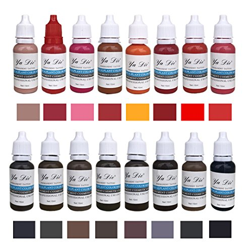 22 Color 15ml Eyebrow&Eyeliner& Lip Permanent Makeup Tattoo Ink Brand Micro Pigment Lasting Long Body Tattoo Art Beauty Tools from BaodeLi