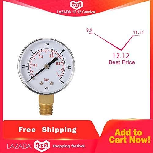 ukYukiko Mini Low Pressure Gauge For Fuel Air Oil Or Water 50mm 0-15 PSI 0-1 Bar