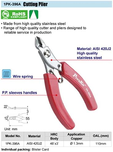 cutter and pliers high quality stainless 110mm Proskit 1PK-396A Cutting Plier