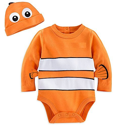 Disney Store Finding Nemo Baby Costume Dress Up Outfit & Hat (9-12M)