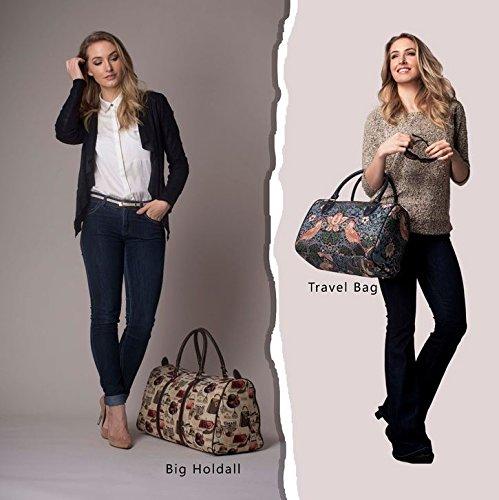 Signare DamenTapisserie Mode Reisetasche Pinke Rose
