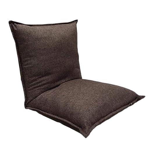 Lazy sofa Sofá de Piso Ajustable, Respaldo Acolchado, para ...
