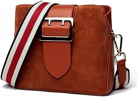 HHF Bags /& Handbag Shoulder Messenger Bag Womens Shoulder Bags Scrub Bucket Bags Top Layer Leather Fashion Bag
