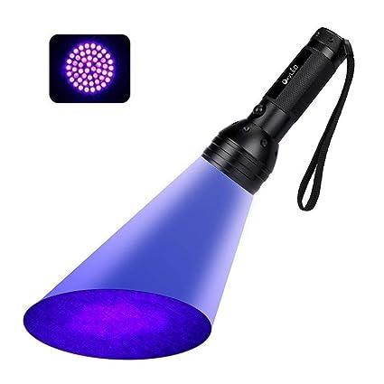 OxyLED Linterna Ultravioleta LED,UV Luz Lámpara,12 LED Detectar manchas de orina de