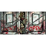 Amscan Horizontal Zombie Apocalypse Plastic Banner (Pack Of 1), Multicolor, 65