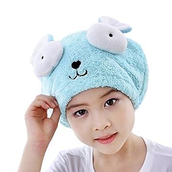 Amazon Com Kids Girls Hair Drying Towel Bath Towels Fast Drying