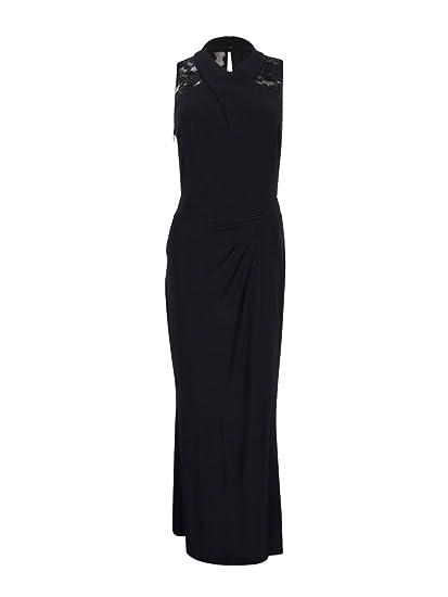 583e015ba34 Lauren Ralph Lauren Women s Isara Sequined Sleeveless Evening Dress Black  ...