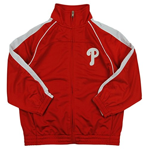 Outerstuff Philadelphia Phillies MLB Big Boys Tricot Track Jacket, Red
