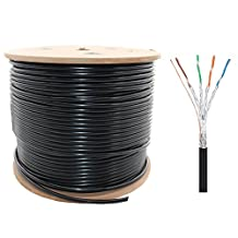 ShineKee 660ft CAT 7 S-STP Bulk Cable, 26AWG Heavy-Duty Cat7 Networking Cord Patch Cable RJ45 10 Gigabit 600Mhz Lan Wire Cable STP