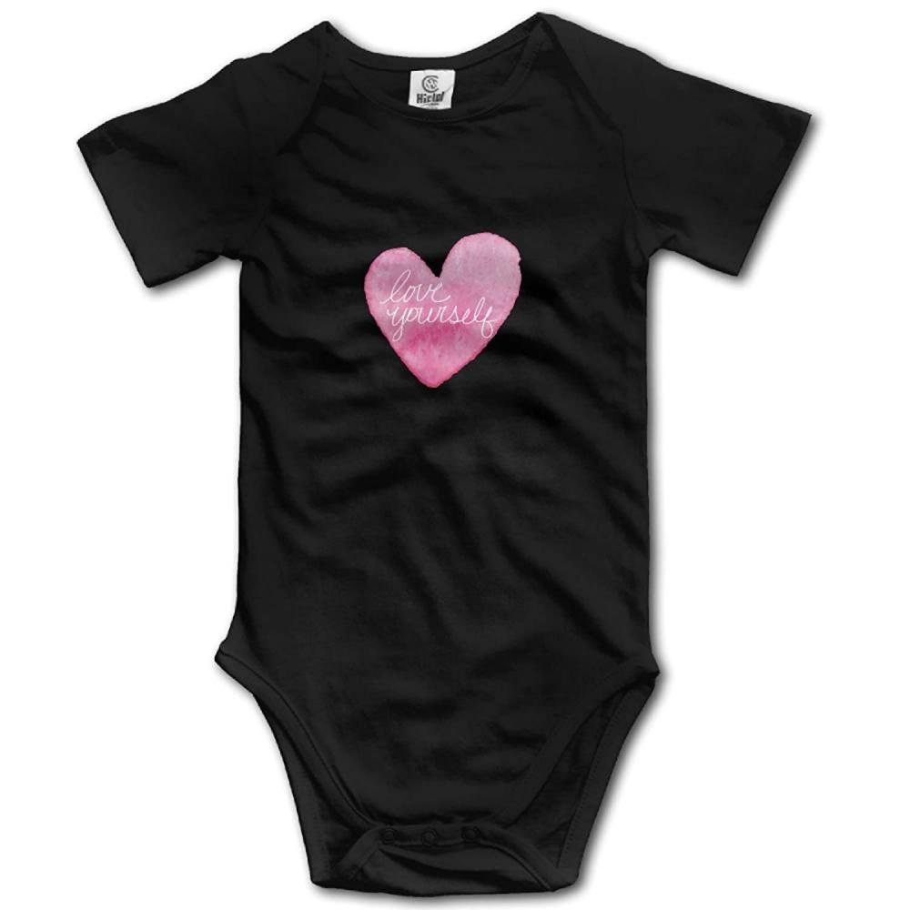 Love Yourself Custom Summer Baby Onesies Baby Jumpsuits Baby Clothes Baby Outfits Clothing