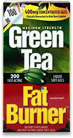 Green Tea Fat Burner Dietary Supplement 200 soft gels