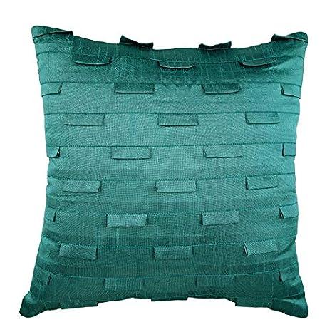Teal fundas de cojines, 65x65 cm fundas para cojines de sofa ...