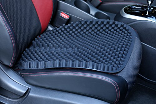 Hylaea Non Slip Gel Auto Seat Cushion Pad for Car Office Chair Black