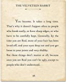 The Velveteen Rabbit - You Become - 11x14 Unframed Typography Book Page Print - Great Gift for Book Lovers