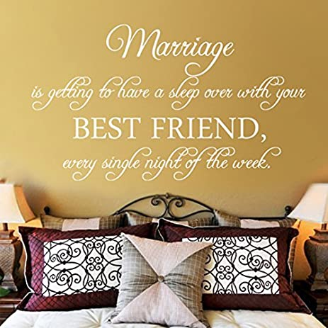 Amazon.com: Marriage Is Getting To Have A Sleep Over With Your Best ...