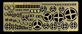 Royal Model 1:35 Assorted HandWheels photoEtched Diorama Detail Foliage #633