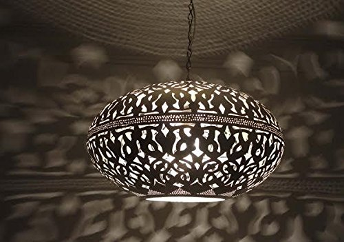 Moroccan Pendant Light Silver