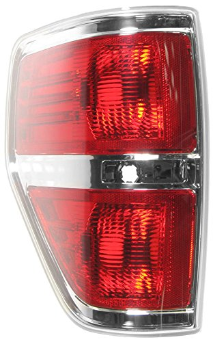(Taillamp Taillight Rear Brake Chrome Trim Driver Side Left LH for F150 Styleside)
