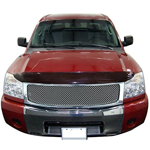 Nissan Wire Mesh Grilles (E-Autogrilles Replacement Chrome Stainless Steel Wire Mesh Packaged Grille with ABS Shell Fits for 04-07 Nissan Titan / 05-07 Nissan Armada (3.5mm) (42-0114))