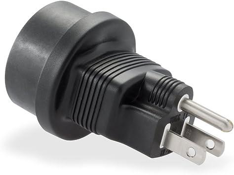 Adaptador de viaje EEUU Estados Unidos Japón USA Canadá / adaptador de corriente / enchufe seguridad convertidor / Tipo B / negro / rocabo: Amazon.es: Informática