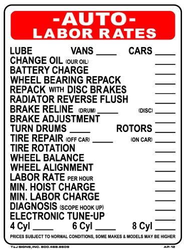 auto-labor-rates-24x18-heavy-duty-plastic-indoor-outdoor-sign