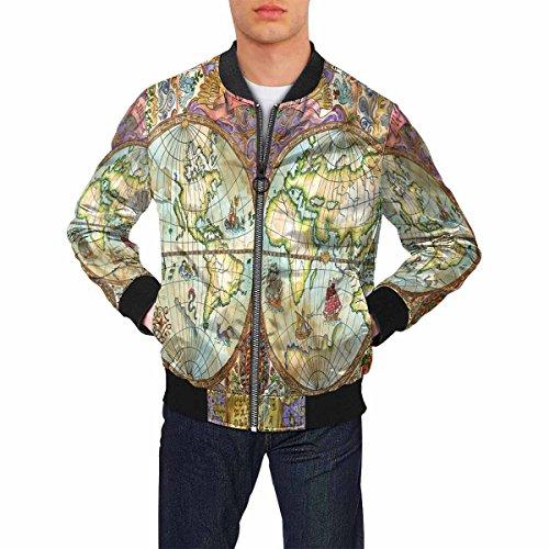 Compare price to world map jacket aniweblog world map jacket 2 gumiabroncs Choice Image