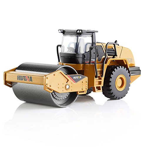 (GEYIIE Roller Model Toy 1:50 Diacast Caterpillar Engineering Construction Vehicle Gift for kids Decorate for Home)