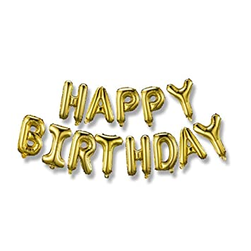 Amazon JSDOIN Happy Birthday Balloons BannerFoil Letters Mylar For Party Decoration Toys Games