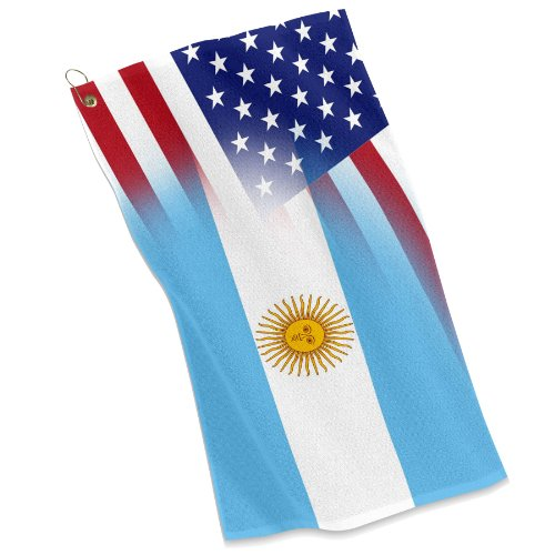 - Golf / Sports Towel - Flag of Argentina & USA Argentinian