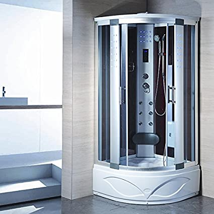 Bath Master 8004 AS Home Luxury Bathtub Spa Sauna, Corner Steam Shower Room  With