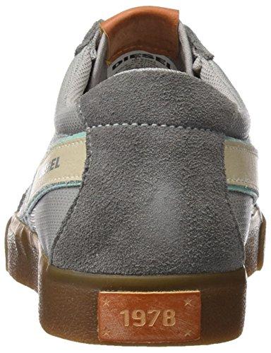 Diesel Y01107, Zapatillas para Hombre Gris (H6221)