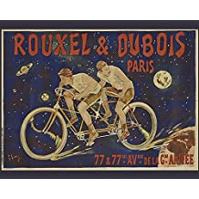 Rouxel And Dubois Bicycles French Vintage Tin Sign Advertising